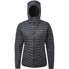 Rab Cirrus Flex Hoodie Jacket Damen steel/steel